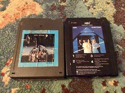 """ABBA 2 8 Track Lot POP 1970s """"ARRIVAL"""" """"Voulez-Vous"""" GOOD"""