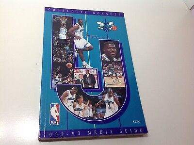 CHARLOTTE HORNETS Basketball 1992-93 Media Guide