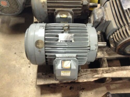 GE General Electric 5KE215KC205B 10 HP 1755 RPM 230/460 VAC AC Motor 215TCY
