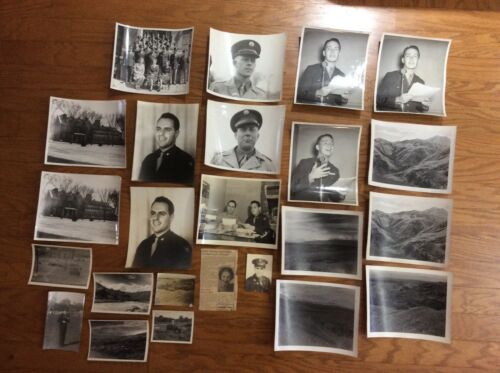 WWII AAF Army Air Corp Force Photos Photographs Group Officers Soldiers Band