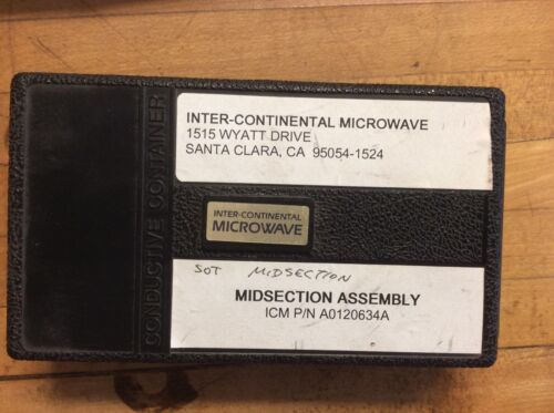 ICM A0120634A  Midsection Assembly Inter-Continental Microwave Test Fixture Kit