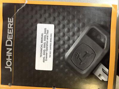 John Deere 455g 555g Loader 450g 550g 650g Crawler Dozer Service Manual New