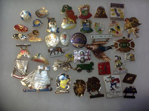 Lions Club Pins: 36 Vintage California-Nevada Pins