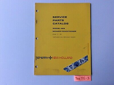 New Holland 489 Mower Conditioner 11-80 Service Parts Catalog