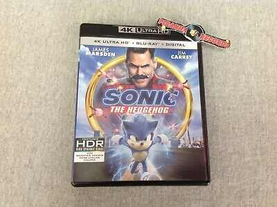 Sonic The Hedgehog Jim Carrey USED 4K Ultra HD Blu-Ray 2020 Piranha Records