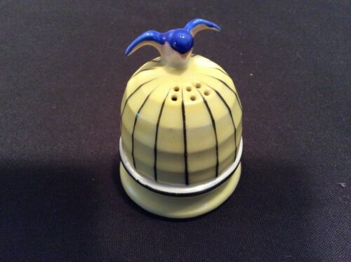 Vintage bluebird porcelain incense box