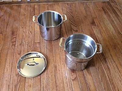 ALL-CLAD Copper Core 7 Quart Pasta Pentola Pot, Insert & Lid NEW w/o Box (All Clad Pasta Pot)