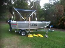 Stacer 13ft 3.8m tinnie and mercury 15hp on trailer Caboolture Caboolture Area Preview