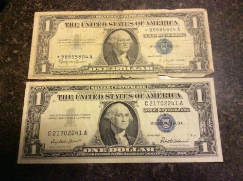 LOT OF 7 MIXED  DOLLAR BILLS FREE SHIPPING