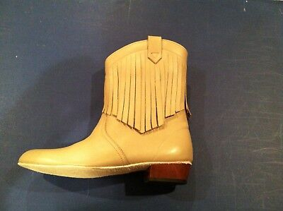 Ladies MITZI FASHION BOOT, all leather, 7 1/2 medium, taupe, special hard sole.  for sale  Shipping to India