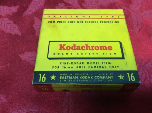 Sealed 100 FT Kodachrome Color 16mm Movie Film  1958 Sealed.