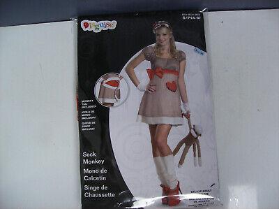 Sock Monkey Halloween Costume (DISGUISE SOCK MONKEY DRESS WOMEN HALLOWEEN COSTUME SMALL NO)