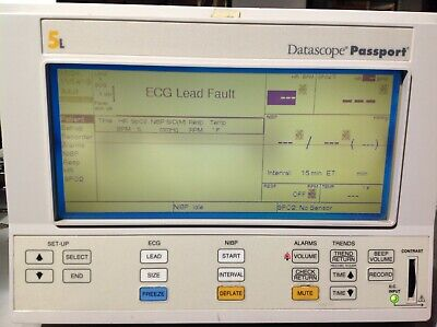 Datascope Passport Xg Patient Monitor Pn 0998-00-0126-04 With Power Supply