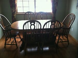 Beautiful Richardson Brothers Oak Dining Room Set Table And Chairs EBay