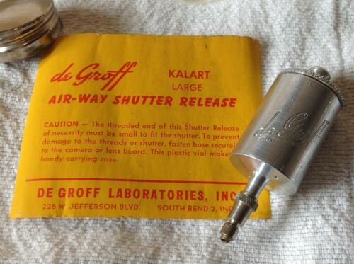 Vintage De Groff Air Way Shutter Release - Kalart Large