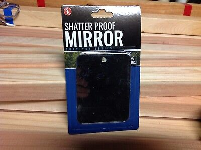 Shatter Proof Survival Signal Mirror Wilderness Rescue Flash Camping Hiking