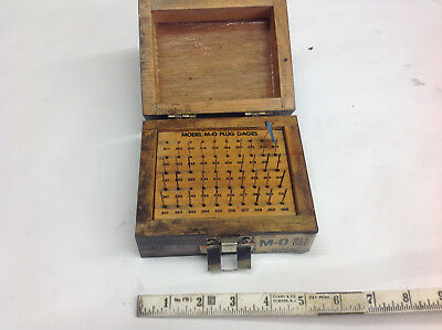 Meyer M-o Plug Gage Set .011 Thru .060 Missing .011 .012 .013 .033 Pins.