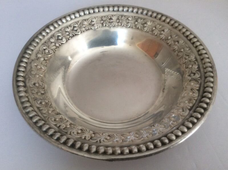 """Antique Wallace Silver Plate 6"""" inches Bowl  # 4233 Candy/Nut Dish"""
