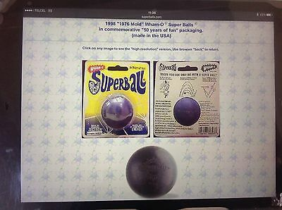 WHAM-O SUPER BALL 1976 [2 each balls & holster][no retail packing] dk-blue/black