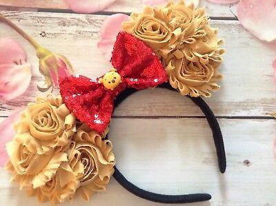Pooh Ears (Winnie the Pooh TSUM TSUM Minnie Mouse Ears headband- Disneyland- Disney)