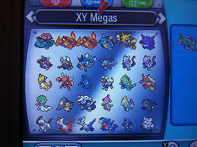 All 48 Mega Evolution Shiny Pokemon Omega Ruby Alpha Sapphire ORAS XY Legendary