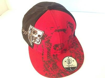 Ruff Ryders Red Black White New Era 59Fifty Fitted Hat Cap Custom RR R R Rap DS