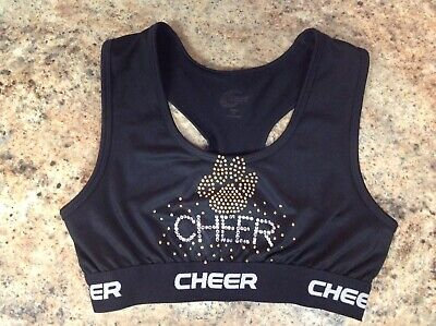 073a64506e0 Chasse Paw Print CA ATHLETICS Adult Small Cheer Cheerleading sports bra top