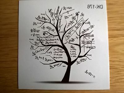 MATHS ALGEBRA TREE TEMPORARY TATTOO (BRAND NEW) 60mm X 60mm DK176