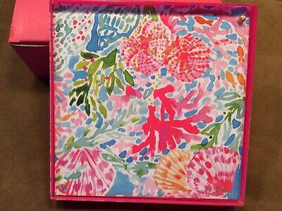"""NEW NIB LILLY PULITZER Fan Sea Pants 6"""" Square Acrylic Picture Frame 2 sided Fan Picture Frame"""