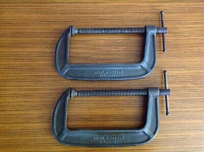 Brinks & Cotton No 148 vintage C Clamps 8 inch