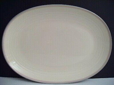 Deep Oval Serving Platter (Pfaltzgraff Aura Pink Large Oval Serving Platter 14