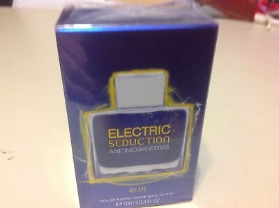 Electric Seduction In BlUE by Antonio Banderas For Men 3.4 FL OZ 100 ML