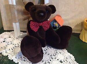 034-Wilber-034-OOAK-15-034-Recycled-Sheared-Beaver-Fur-Teddy-Bear