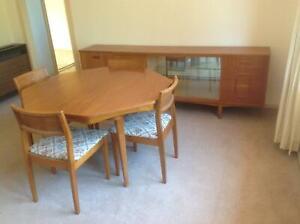 teak dining suite 1970s good condition