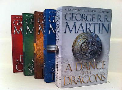 Game of Thrones Hardcover Collection Set George R. R. Martin Set 1-5! Brand New!