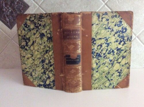 """""""Christmas Books"""" By Charles Dickens John W Lovell Co Circa 1900 Antique Book"""
