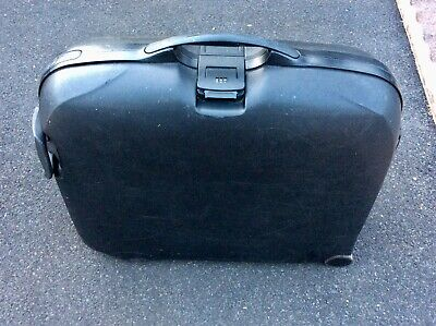Samsonite Large Hard Shell Suitcase Retro Combination Lock Black 4 Wheeled