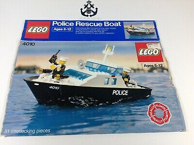 Lego Vintage Town / City Police Rescue Boat Box For Set 4010-1