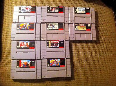 SNES Lot of 10 Mega Super Nintendo Sports pack! Best Games in time for Christmas ()