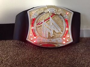 2010 WWE WORLD HEAVYWEIGHT SPINNER LIGHT & MUSIC Championship Belt Toy Cena Kane