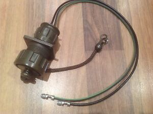 Amphenol Military Specification 2 Pin Plug Complete With Connector Wires