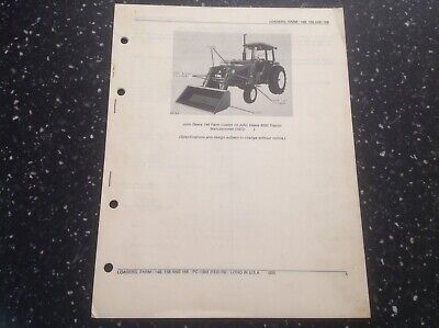 John Deere 148 158 And 168 Farm Loaders Parts Catalog Pc-1363
