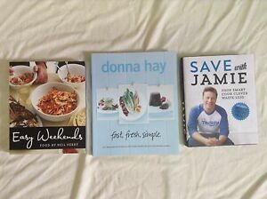 3 cookbooks brand new Jamie Oliver Neil Perry Donna Hay Narara Gosford Area Preview