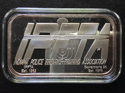 2001 Indiana Police Firearms Training Association Ipfta Silver Art Bar A4645