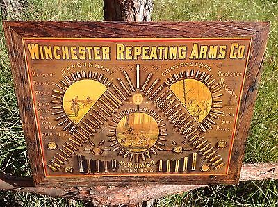Winchester Repeating Arms Co. Sign Tin Vintage Garage Bar Decor Old Rustic