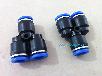 10pcs 12mm Push In Equal Y Pneumatic Jointer Connector