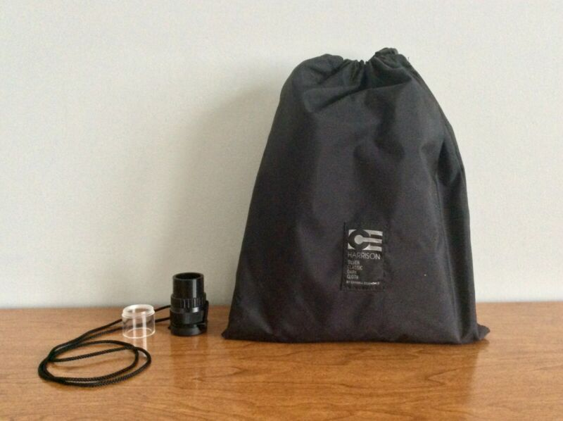 Wista 5X Standard Focusing Loupe and Harrison Silver Classic Dark Cloth 4x5 LF