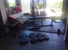 BENCH PRESS & PLATE WEIGHTS Valentine Lake Macquarie Area Preview