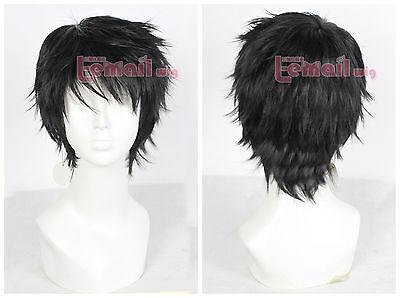 Homestuck Karkat Vantas Short Black Fluffy Synthetic Hair Cosplay Wig Mens - Mens Short Black Wig