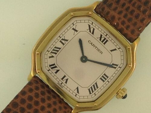 Rare Vintage Cartier 18ct Yellow Gold Ladies Watch